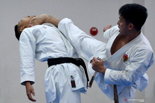 Karateka Indonesia berlatih untuk SEA Games 2019 Filipina