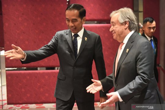 Pertemuan Presiden Joko Widodo dengan Sekjen PBB