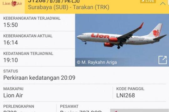 Dua pesawat Lion Air nyaris tak bisa mendarat di Tarakan