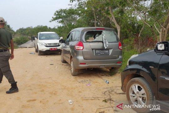 Kendaraan dinas Pemprov Bangka Belitung rusak diamuk OTD