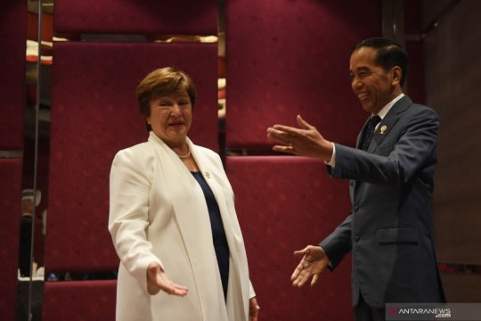 Presiden Jokowi - Direktur Pelaksana IMF bahas kondisi ekonomi global