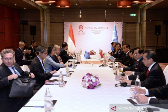 Krisis Rakhine State dan Palestina dibahas Jokowi bersama PBB