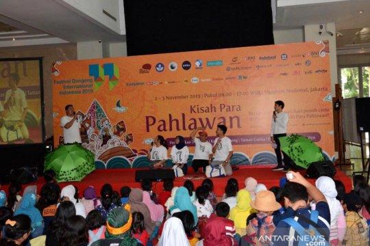 Relawan dan komunitas gelar festival dongeng di Museum Nasional