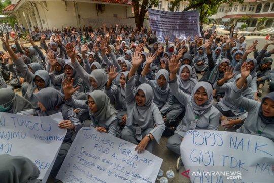 Pegawai RSUD Al-Ihsan Bandung unjuk rasa tuntut kesejahteraan