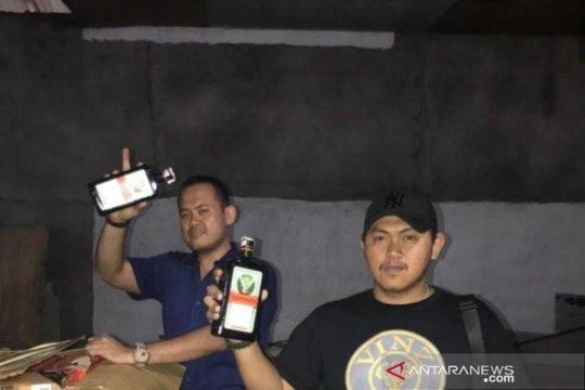 Bea Cukai Jambi dan polisi sita ribuan botol miras ilegal