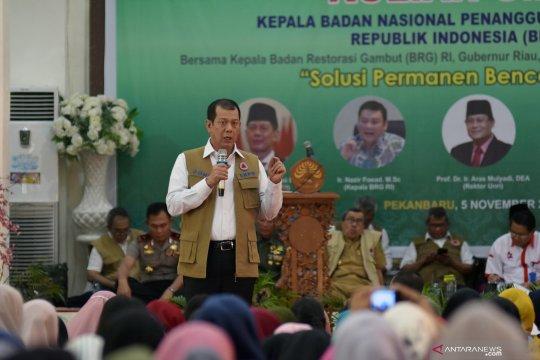 Kepala  BNPB di Universitas Riau