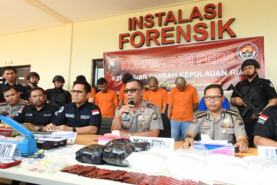 Polda Kepri ungkap jaringan narkotika internasional Indonesia-Malaysia