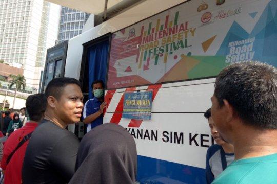 SIM Keliling hadir di lima lokasi di Jakarta