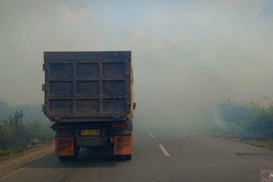 Di Kalsel pembakaran lahan masih terjadi meski masuk musim penghujan
