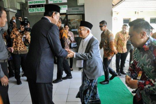 Dirawat di RS PKU Muhammadiyah, Waketum MUI dibesuk Wapres
