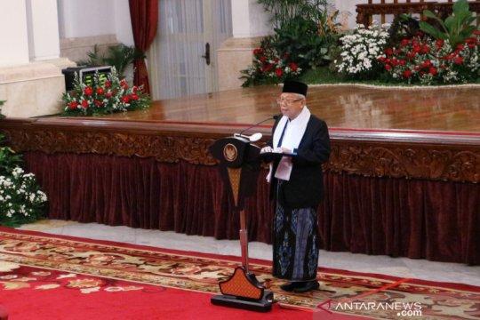 Jokowi persilakan Ma'ruf Amin beri sambutan Maulid Nabi