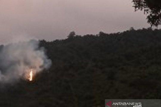 Tiga hektare hutan lindung Gunung Salak Sukabumi terbakar