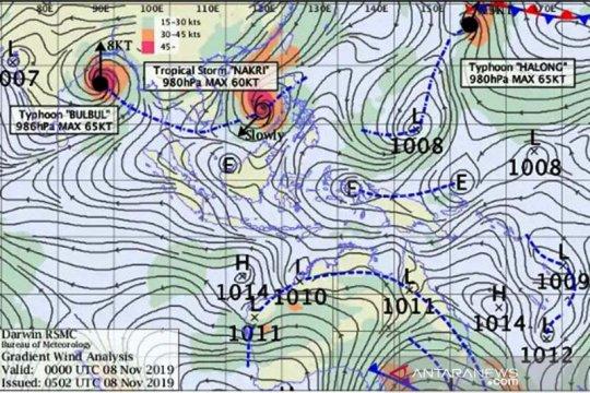 Cuaca di Jateng bagian selatan dipengaruhi tiga badai, sebut BMKG