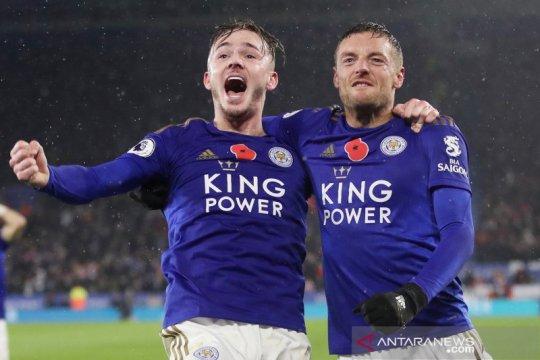 Bungkam Arsenal 2-0, Leicester rebut posisi kedua