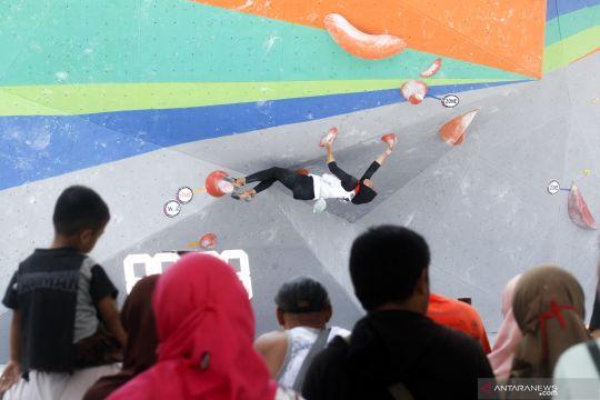 Nurul Iqamah sumbang emas kedua panjat tebing NTB dari nomor combined