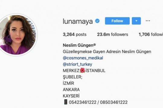 Akun Instagram Luna Maya diretas