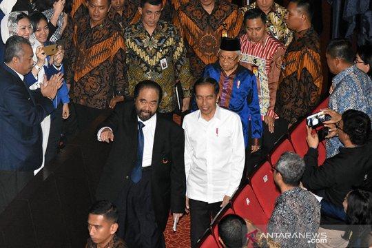 Disambut Surya Paloh, Jokowi hadiri puncak HUT Partai NasDem