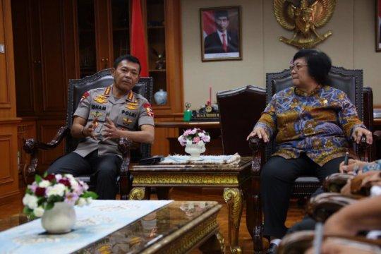 Kapolri temui Menteri Siti koordinasi masalah lingkungan