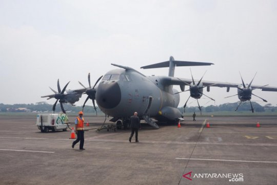 Wakasau Fahru Zaini tinjau pesawat angkut A400M buatan Airbus