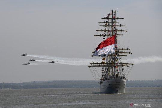 KRI Bima Suci tiba di Surabaya usai laksanakan Pelayaran Diplomasi Duta Bangsa