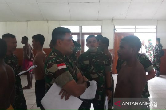 Persiapan pembukaan kodim,TNI rekrut putra asli Papua