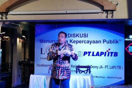 Denny JA: Jokowi-Prabowo ajak berpolitik secara rileks