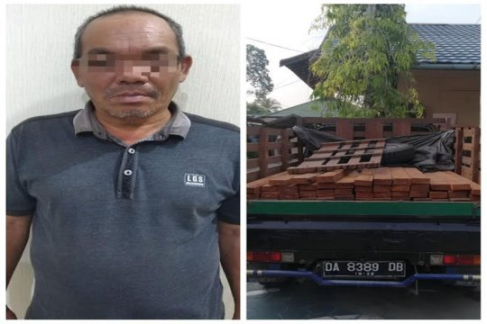 Sempat kejar-kejaran, DPO pembalakan liar ditangkap polisi di Sikui