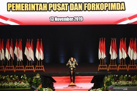 Rakornas Forkopimda, Jokowi bersyukur pertumbuhan ekonomi terjaga