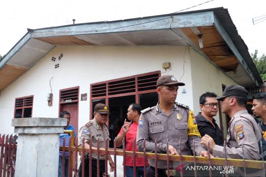 Rumah terduga pelaku bom bunuh diri di Medan