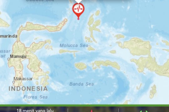 Gempa berkekuatan 4,0 guncang Jailolo, Maluku Utara