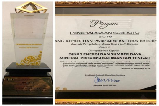 Kalteng raih penghargaan kepatuhan PNBP mineral dan batu bara
