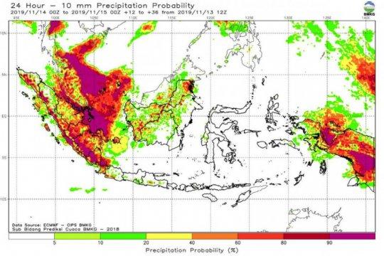 BMKG ingatkan waspadai hujan lebat dan angin kencang di Lampung