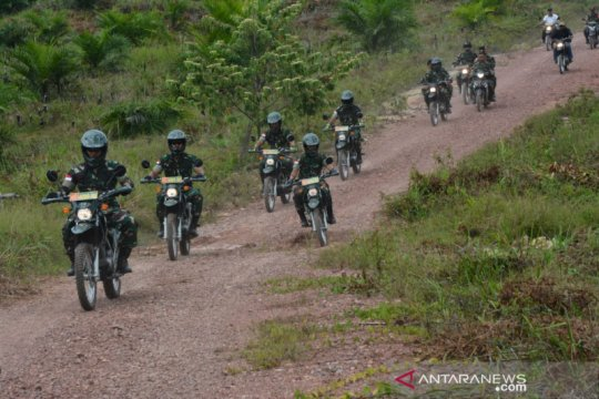 Pangdam tinjau jalur inspeksi di perbatasan Indonesia - Malaysia