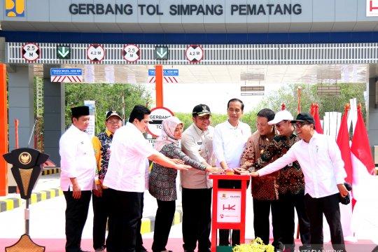 Presiden Jokowi resmikan tol Terpeka sepanjang 189 km
