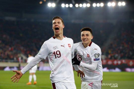 Atasi Georgia 1-0, Swiss perlebar peluang lolos putaran final