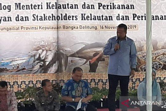 Menteri Edhy Prabowo janji segera atasi pendangkalan muara Sungai Liat