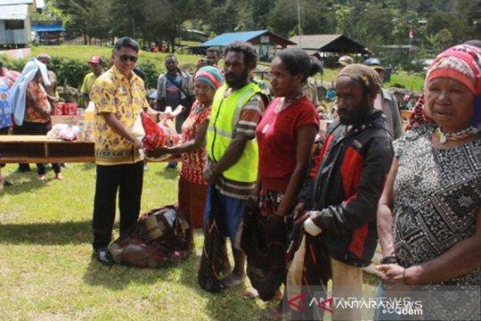 Diberupakan sembako sebagian bantuan warga miskin di Lanny Jaya-Papua