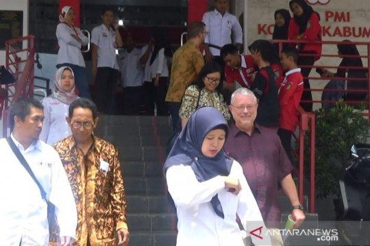 Amcross tinjau lokasi program kesiapsiagaan gempa di Sukabumi