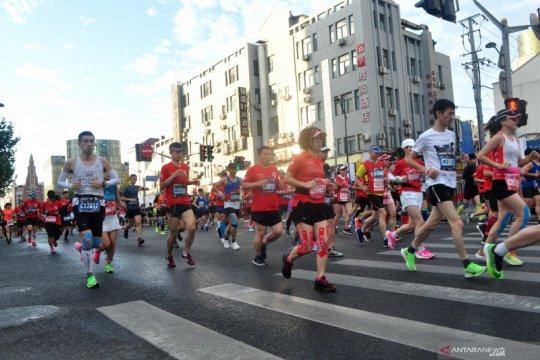 9.000 pelari ambil bagian di Shanghai Marathon