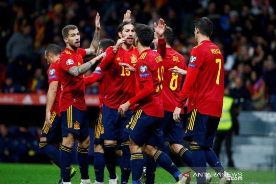 Spanyol, Swedia dan Norwegia kompak tutup Grup F dengan kemenangan