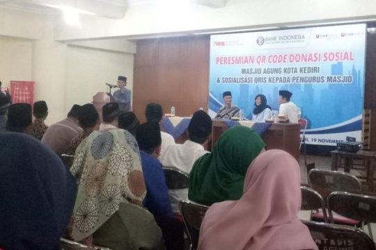 BI Kediri sosialisasikan pemanfaatkan QRIS untuk donasi sosial