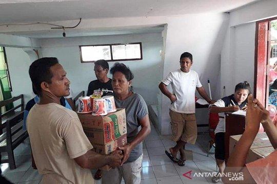 Distribusi bantuan ke Batang Dua dari Posko Gereja Imanuel tersalurkan