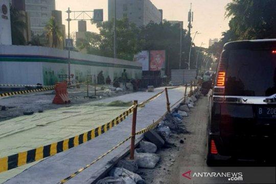 Pengecoran picu kepadatan arus lalulintas Jalan Cikini Raya