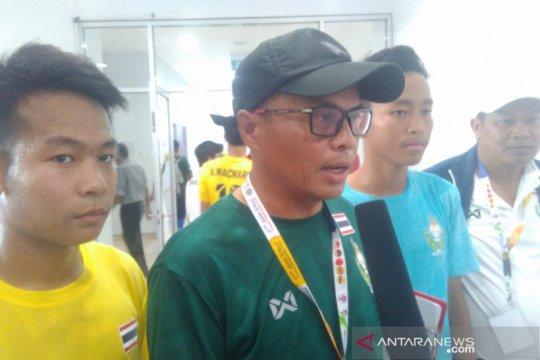 Pelatih tim pelajar Thailand puas dengan kualitas Stadion Batakan