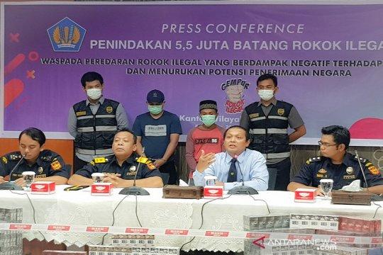 Kasus rokok ilegal di Riau rugikan negara Rp2,5 miliar
