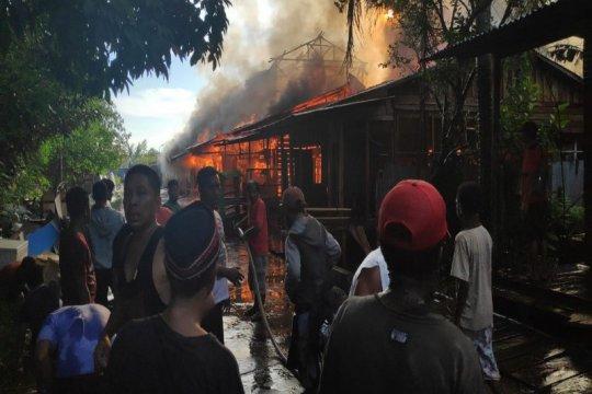 Polisi selidiki kebakaran yang hanguskan 30 rumah di Mappi