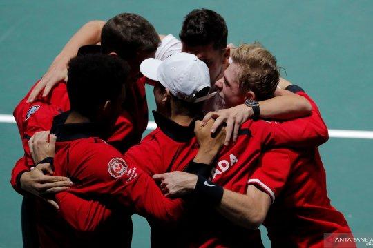 Davis Cup: Kalahkan AS, Kanada negara pertama maju ke perempat final