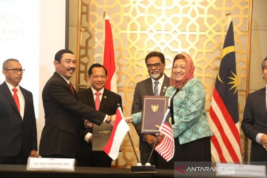 Indonesia-Malaysia tanda tangani kesepakatan batas negara