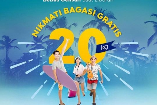 Sriwijaya gratiskan biaya bagasi 20 kilogram penerbangan Natal