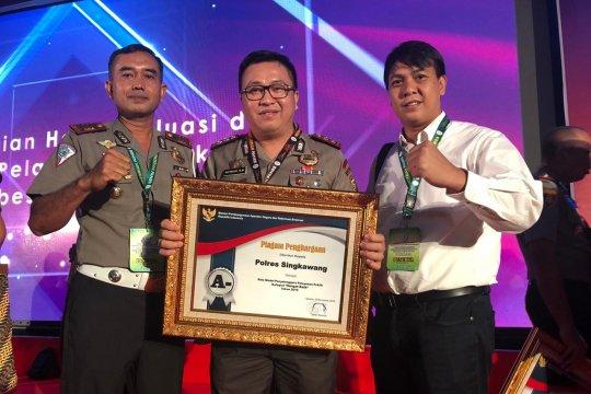 Polres Singkawang raih penghargaan kategori sangat baik dari Kemenpan-RB